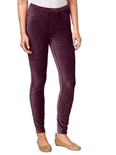Style Co Petite Women's Corduroy Leggings, Scarlet Wine, Size ()