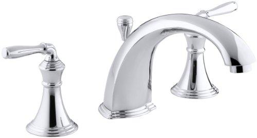 KOHLER K-T387-4-CP Devonshire Deck-Mount Bath Faucet Trim, Polished Chrome 4 Deck Mount Bath Faucet