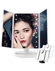 21 LED TRI Fold Make Up Folding Table Mirror 1X/ 2X/ 3X -