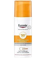 Eucerin Protector solar facial FPS 50+ CC Cream tono medio, Sun Creme, 50ml