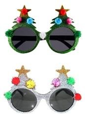 One Size Fits All Men And Women Christmas Novelty Sunglasses Plastic Frame BFD One Pack Of 2 Secret Santa Funny Sunglasses Wipe Clean With Cloth Many Designs Christmas Pudding Santa Deer