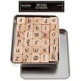 Lower Case Party Ink Alphabet Rubber Stamp SetNew by: CC