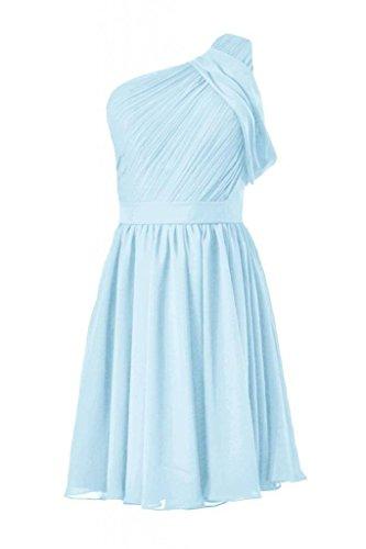 Daisyformals Vendange Une Robe De Soirée Épaule Courte Robe De Demoiselle D'honneur En Mousseline De Soie (bm280) # Bleu 40 Glace