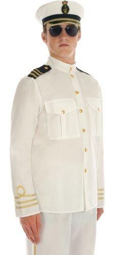 Navy Officer - Male - Adult Fancy Dress Costume - XL by Fun Shack (Officer Fancy Dress)