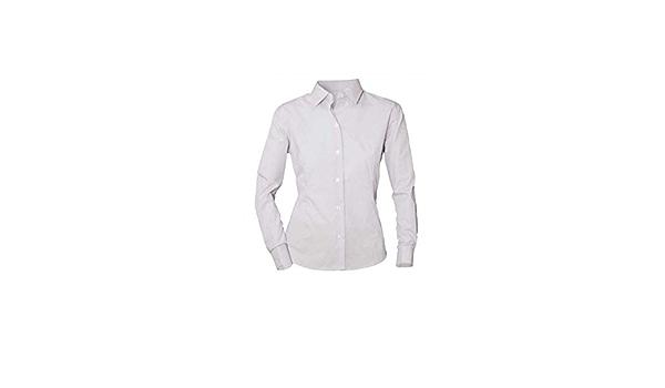 NORVIL Camisa de Mujer de Manga Larga Blanca con Cuello ...