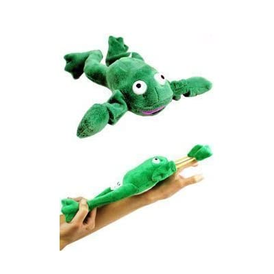 Flingshot Frog Flies With A Crooooaaaak! Just Pull Him Back And Let Him Fly! Flingshot Flying Frog Ages 4 & Up - Slingshot Flying Frog: Everything Else