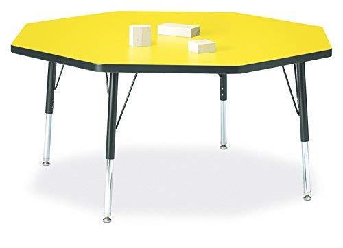 Berries 6428JCT187 Octagon Activity Table T-Height 48 x 48 Yellow/Black/Black [並行輸入品] B07N8F3HJ3