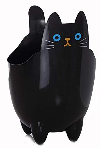 123Arts Cute Cartoon Cat ABS Table Bathroom Trash Can Storage Bucket