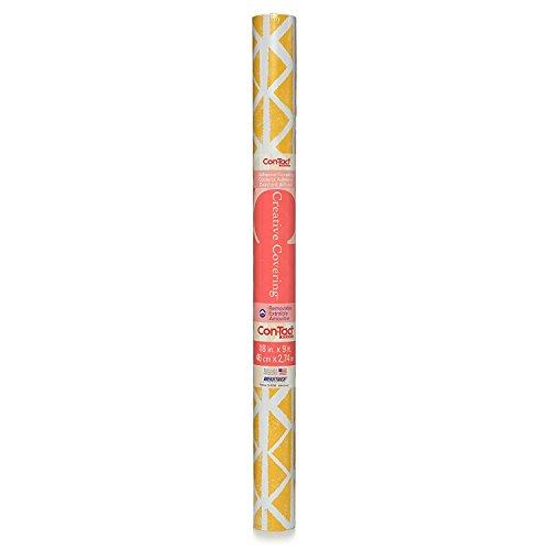 Yellow Drawers - Con-Tact Brand Creative Covering Adhesive Drawer & Shelf Liner, Ashbury Sunshine Yellow, 18'' x 9'