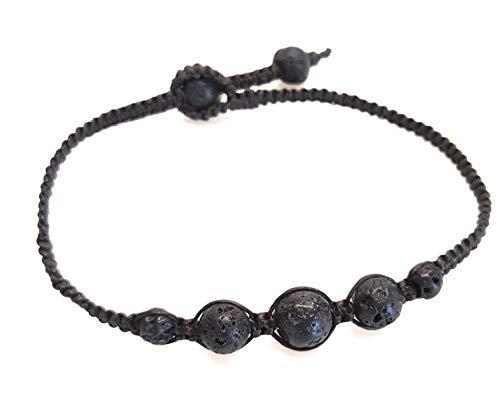Infinityee888 Lava Anklet Bracelet Macrame Braided Woven Wax Cord Adjustable Anklet for Men, Women, teengirls-NYAKLV1