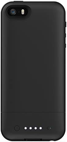 Mophie Juice Pack Air - Funda rígida con batería integrada (1700 mAh) para iPhone 5, color negro: Amazon.es: Electrónica