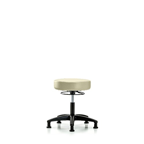 Vinyl Desk Height Stool - Nylon Base, Glides, Adobe Vinyl