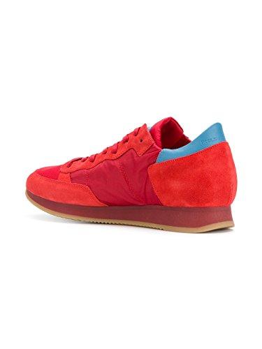 Modello Philippe Mens Sneakers In Pelle Rossa Trlusr12