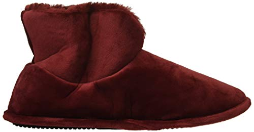 Women's Solid Velour Dearfoams Slipper Cabernet Bootie HTqE8dx5w