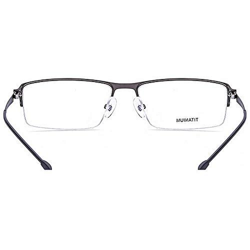 la lunettes fibre transparente nuances titane brillants Flexible avec Noir de sans Couleur cadre lunettes alliage forme designer lentille carrée monture acétate semi léger Gris nouveauté Alliage arqEa1xz