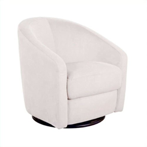 Swivel Glider Rocker Chair - Babyletto Madison Swivel Glider, Ecru Microsuede
