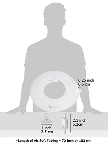 Pictures of Rhinox Airline Tubing: 6 Feet in Length White, Off white 2