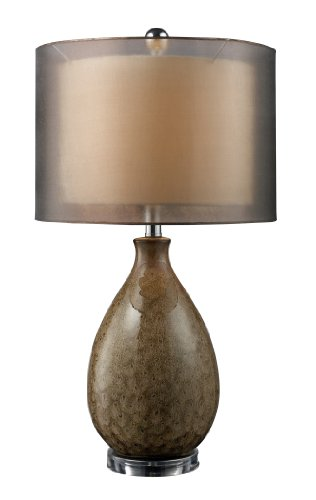 Dimond D1717 15-Inch Width by 28-Inch Height Brockhurst Table Lamp in Francis Fawn Finish with Bronze Organza Outer Shade and Cream Inner ()