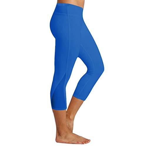 - Botrong Women Leggings Fitness Sports Running Slim Tight Yoga Athletic Pants Blue