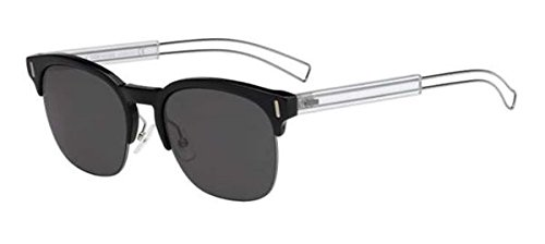 (Christian Dior Black Tie 207/S Sunglasses Black Ruthenium Crystal / Gray )