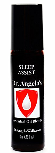 Dr. Angelas Sleep Assist Essential Oil Blend with Cannabis Oil | Therapeutic Grade Insomnia Relief Roll-On Bottle | Natural Sleep Aid 10 ml (.33 fl oz)