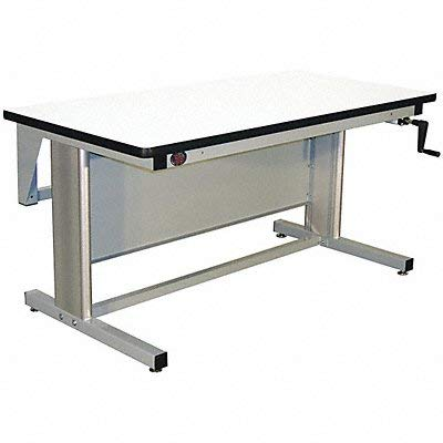 (Pro-Line EL6030P/A31 Ergo-Line Model Workbench with Plastic Laminate, Light Gray Frame)
