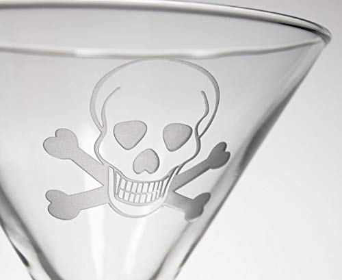 Rolf Glass Skull and Cross Bones Martini 10oz, Set of 4 Glasses by Rolf Glass (Image #2)