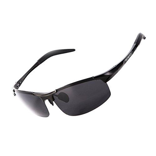 Beschoi Polarized Sunglasses for Men Women with Sun Glasses Case, 100% UV400 Protection Al-Mg Metal Frame Ultra - Sunglasses Polarized Eclipse