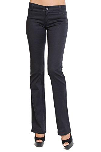 Dickies Women's Bootcut Khaki Pants Stretch Work School U...