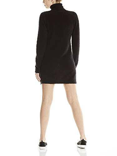Knitted Beauty Neck Bench black Vestido Dress Roll Bk11179 Negro Mujer Para OwxzqZHd