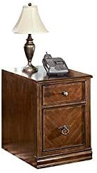 Bowery Hill 2 Drawer File Cabinet in Medium Brown