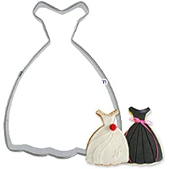 Amazon.com: Strapless Wedding Gown / Dress Copper Cookie Cutter ...