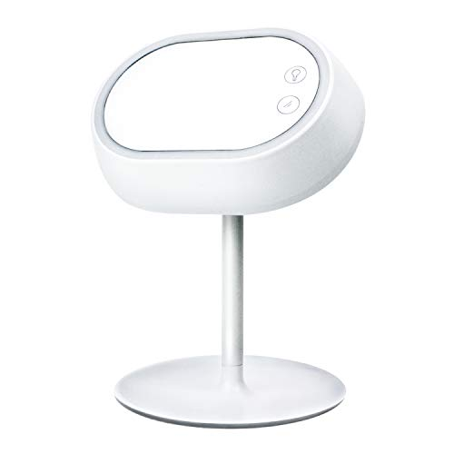 Du Jour La Nuit Rechargeable Mirror Lamp with Touchscreen, Long-Hold Lamp Light Adjustable Brightness for Face Make-Up or Workstation