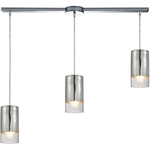 - Pendants 3 Light Fixtures with Polished Chrome Finish Glass/Metal Material Medium Bulb 36