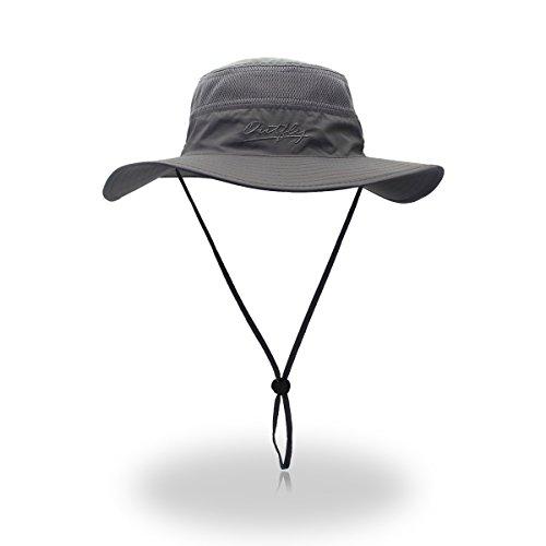 Duakrs Unisex Wide Brim Sun Hat,Outdoor UPF 50+ Waterproof Boonie Hat Summer UV Protection Sun Caps
