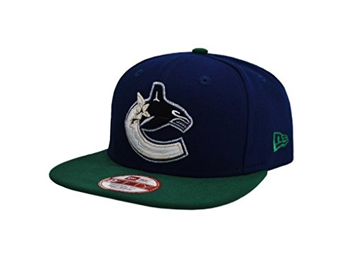 New Era 9Fifty NHL Vancouver Canucks 2 Tone Royal Blue/Green Snapback Cap (Small/Medium)