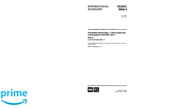 ISO/IEC 8859-4:1998, Informati...
