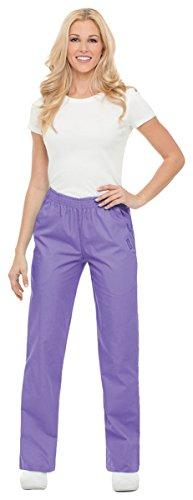 Landau Nurses Uniforms - Landau Women's Petite Classic Relaxed Scrub Pant, Wisteria, Petite/Small