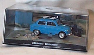 james bond 007 goldeneye ZAZ-965A film scene car 1.43 scale diecast model by universal hobby