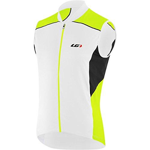 Louis Garneau Men's Mistral Vent Sleeveless Cycling Jersey, White/Bright Yellow, Small Garneau Sleeveless Jersey