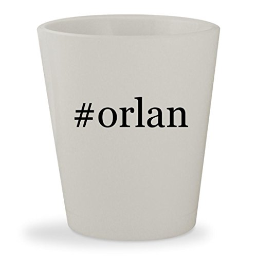 #orlan - White Hashtag Ceramic 1.5oz Shot Glass Orlane B21 Whitening Serum