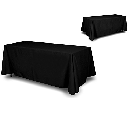 Wall26-4 Sided Full Back Black Tablecloth/Table Cover/Throw | Cloth Size 90