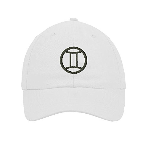 gemini-embroidered-soft-unstructured-hat-baseball-cap-white