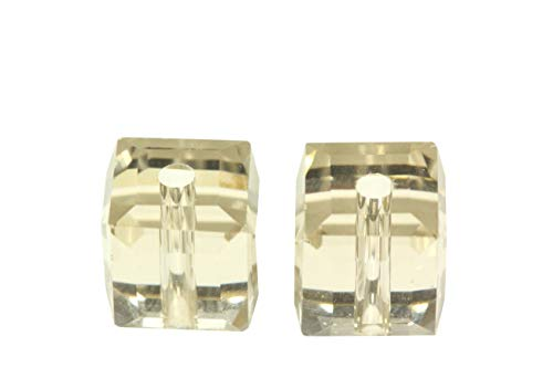 100pcs 4mm Adabele Austrian Cube Crystal Beads Silver Champagne Compatible with Swarovski Crystals Preciosa 5601 SSC429