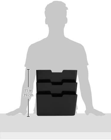 3 St/ück Basics Wandablagef/ächer 3-stufig h/ängend 33 x 38 cm Schwarz