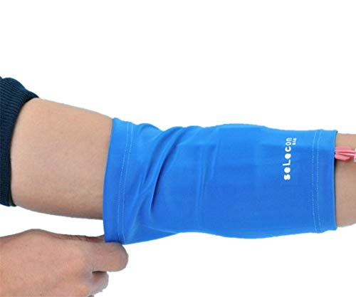 PICC Nursing Sleeve Cast Protector PICC Line Cover for Adult Kids,Ultra-Soft Comfortable,Weight: 88-210 Pounds (Blue, S) (Line Protector Iv)