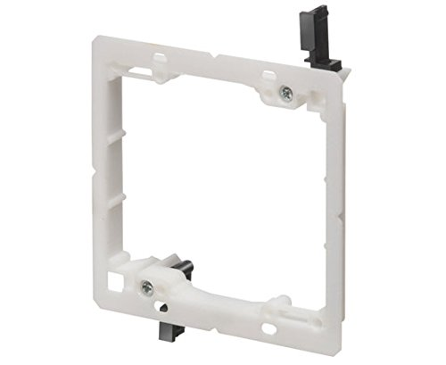 Low-Voltage Mounting Bracket, Low-Profile, White Single-Gang & Dual Gang - 2-Gang by Cyber X Link