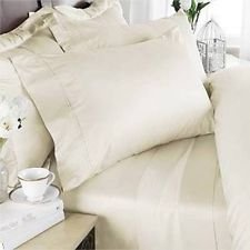 Luxury 1500 Series Super Soft Ivory-Califronia King 4pc Sheet Set