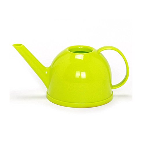 Calunce Lovely Teapot Shape 1.2L Candy Color Watering Can ,Green