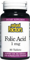 Natural Factors Folic Acid 1000 mcg 90 ()